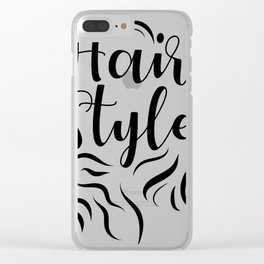 Hair Style Clear iPhone Case