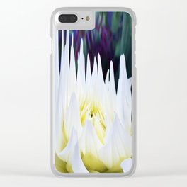 380 - Abstract Flower Design Clear iPhone Case