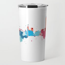 Hong Kong Cityscape Watercolor Travel Mug