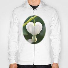 Lone white heart Hoody