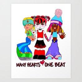 Beat Girlz Art Print