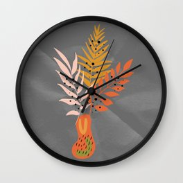 VASE WITH FLOWERS Wall Clock