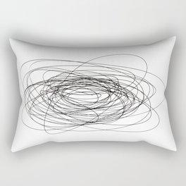 scrawl abstract drawing Rectangular Pillow