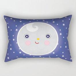Happy Moon Man Rectangular Pillow