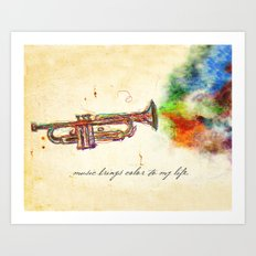 Music Brings Color to My Life Art Print