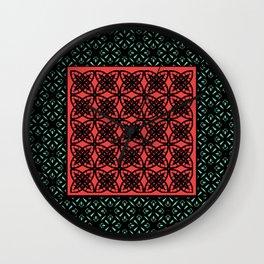 Art Deco Bohemian Mosaic 2 Wall Clock