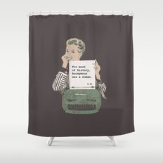 Virginia Woolf Quote Shower Curtain