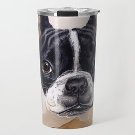 French Bulldog Gouache Artwork Travel Mug