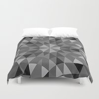 gray pattern Duvet Covers featuring Gray Pattern by 2sweet4words Designs