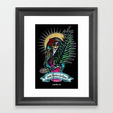 Santa Maria de Los Tacos Framed Art Print