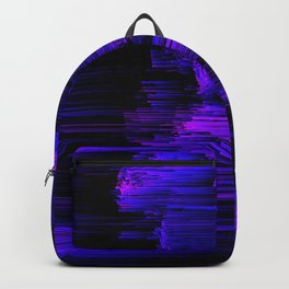 Ultraviolet Light Speed - Abstract Glitch Pixel Art Backpack