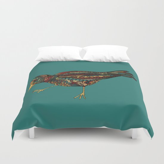 Mechanical Bird Duvet Cover
