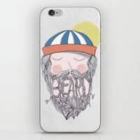 beard iPhone & iPod Skins featuring BEARD by Nazario Graziano
