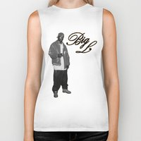 2pac Biker Tanks featuring Big L //Black&White by Gold Blood