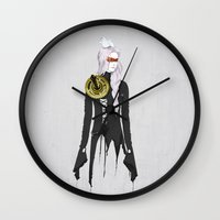 clockwork Wall Clocks featuring Clockwork by SEVENTRAPS