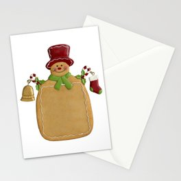 Christmas Ginger Bread Man Stationery Cards