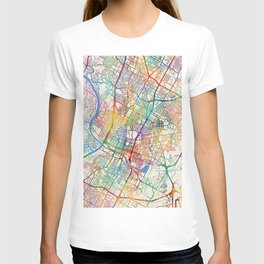 Austin Texas City Map T-shirt