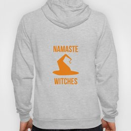 Namaste Witches Halloween Fly On A Broom Hoody