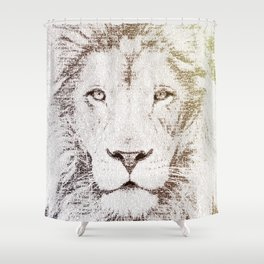 The Intellectual Lion Shower Curtain