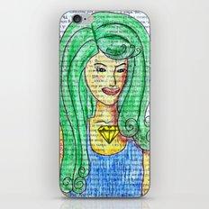 Green Hair Girl iPhone & iPod Skin