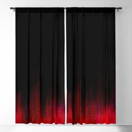 Red and Black Abstract Blackout Curtain
