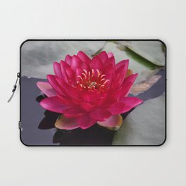 Red Waterlily Burgundy Princess Laptop Sleeve