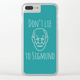 Do not lie to Sigmund /green (talkers) Clear iPhone Case