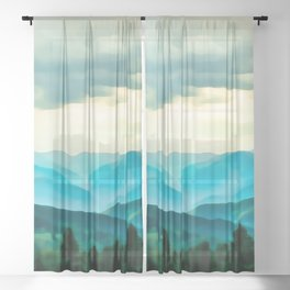 Clouded Beauty Sheer Curtain