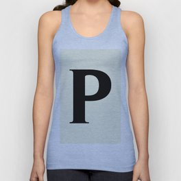 P MONOGRAM (BLACK & BEIGE) Unisex Tank Top