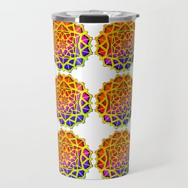 East Ornament Pattern - Islamic Pattern Travel Mug