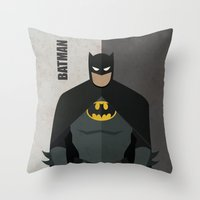hero Throw Pillows featuring Hero by Loud & Quiet
