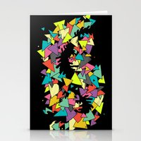 triangles Stationery Cards featuring Triangles  by AtomicChild