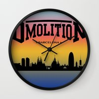 sports Wall Clocks featuring DMolition Sports by DMolition