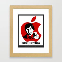 STEVE JOBS iRevolution (in aid of Cancer Research) Framed Art Print