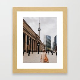 CN Tower Downtown Toronto Framed Art Print