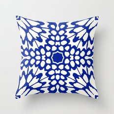 Butterfly Wings: Lapis Throw Pillow