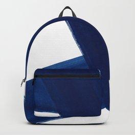 Indigo Abstract Brush Strokes | No. 4 Backpack