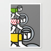 tour de france Canvas Prints featuring Peloton Tour De France by sonsofwolves