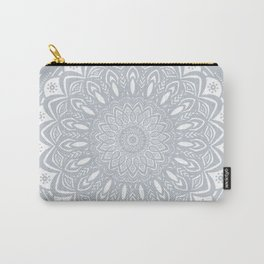 Cool Gray Mandala Simplistic Bold Minimal Minimalistic Carry-All Pouch