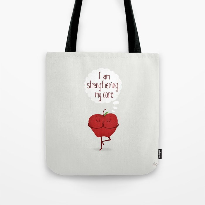 Apple Core Workout Tote Bag