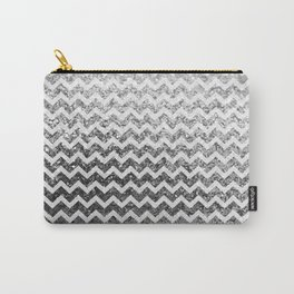 Glitter Sparkly Bling Chevron Pattern (silver) Carry-All Pouch