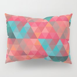 Abstract Geometric Pattern colorful triangles abstract art Pillow Sham