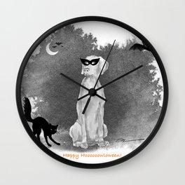HOOOOOOWLOWEEN WEIMARANER Wall Clock