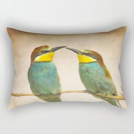 Love time. Bee-eaters Rectangular Pillow