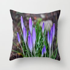 lilac flowers nature Throw Pillow
