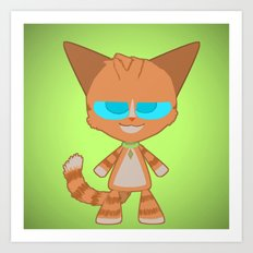 Dave Cat Art Print