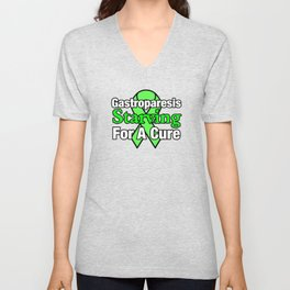 Gastroparesis Awareness Starving For A Cure Ribbon Unisex V-Neck