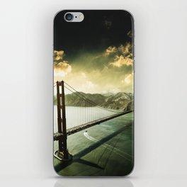 golden gate bridge in san francisco iPhone Skin