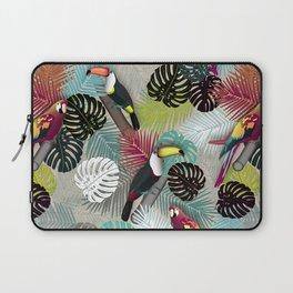Tropical Birds (Color 2 - Bold) Laptop Sleeve