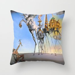 Salvador Dali The Temptation of St. Anthony 1946 Artwork for Wall Art, Prints, Posters, Tshirts, Men, Women, Kids Throw Pillow